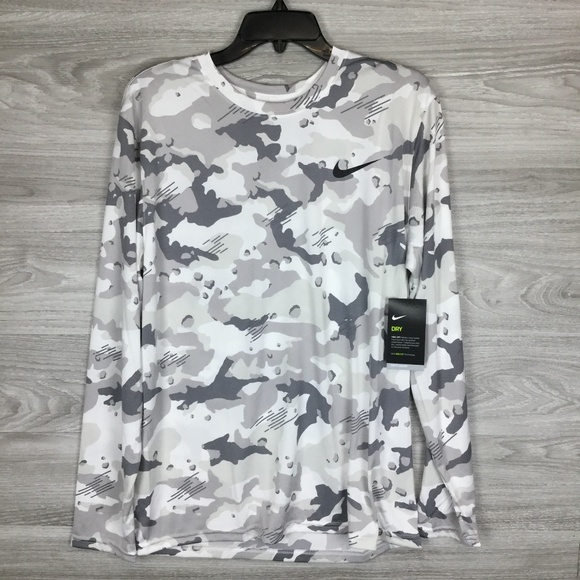12952c0d554874 Nike Shirts | Dry Legend Camo Long Sleeve Tee | Poshmark